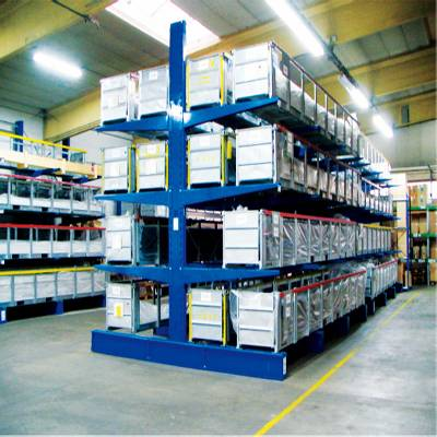 Higher reliability large capacity steel cantilever rack
