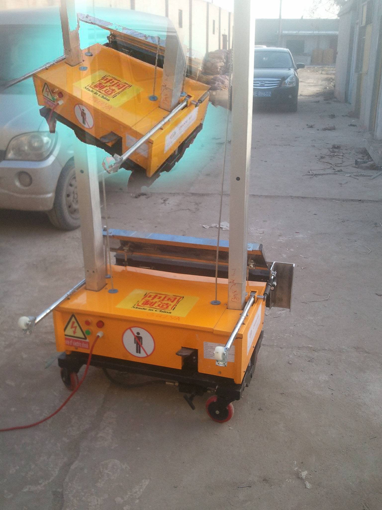Our company is selling all kinds of wall plastering machine.