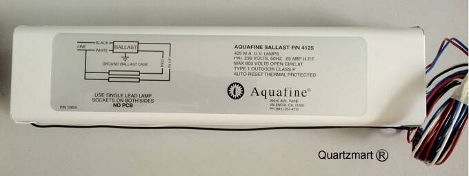 Aquafine 4125 UV Ballast