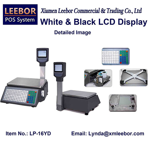 Electronic Barcode Label Pricing Scale, Supermarket Price Computing Desktop Printer Weighing Scales