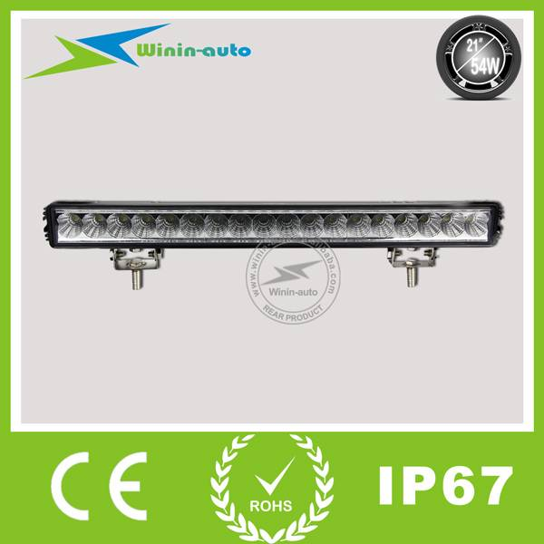 21 54W Single Row Epistar LED Light Bar LED work light bar for off-road ATV SUV 4050 Lumen WI9013-5