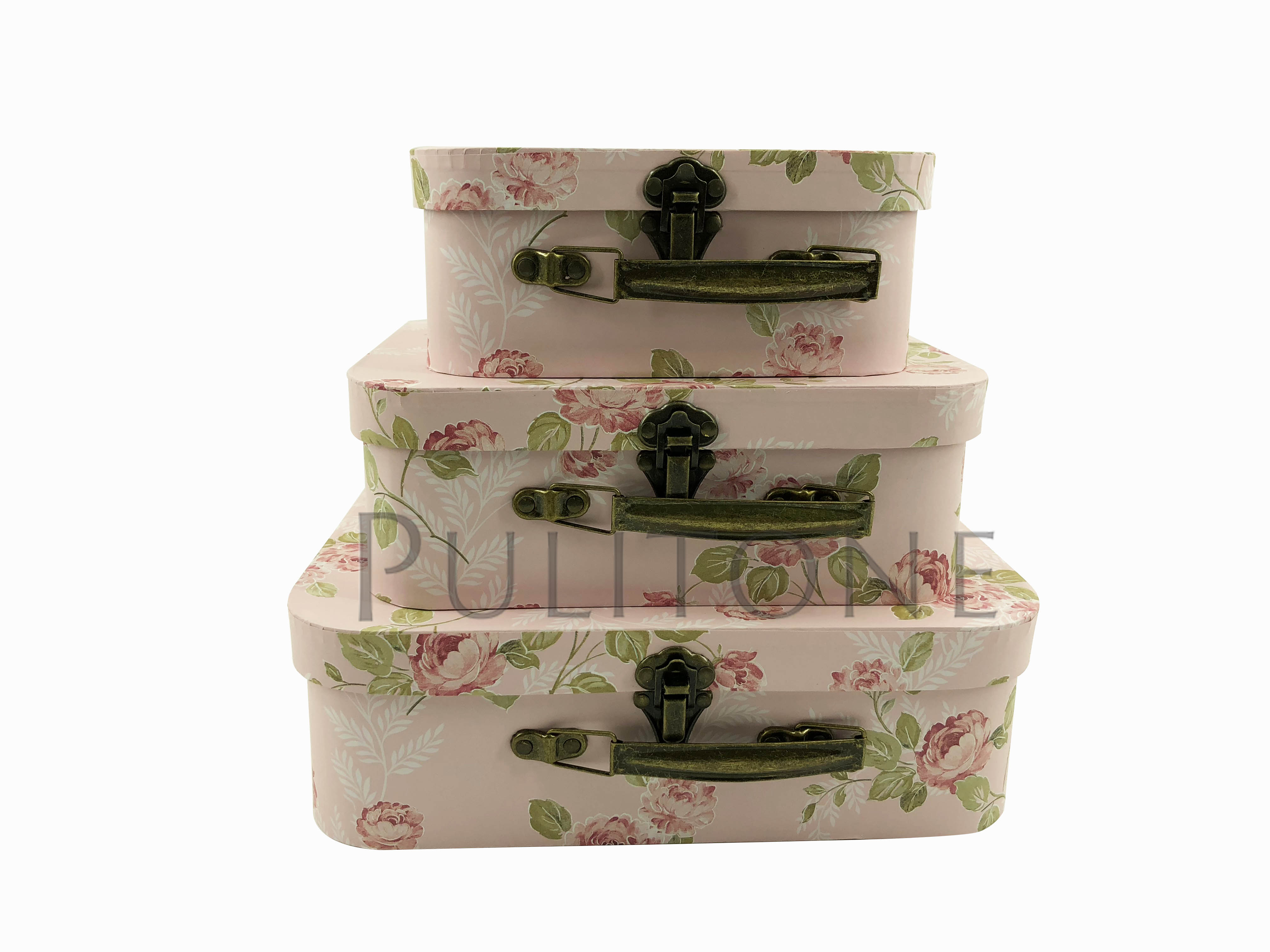 sweet lovely suitcase gift box recyclable hardboard paper gift box packing box