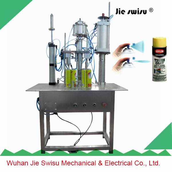 CJXH-1600A 3 in 1 tables type Aerosol can spray filling machine