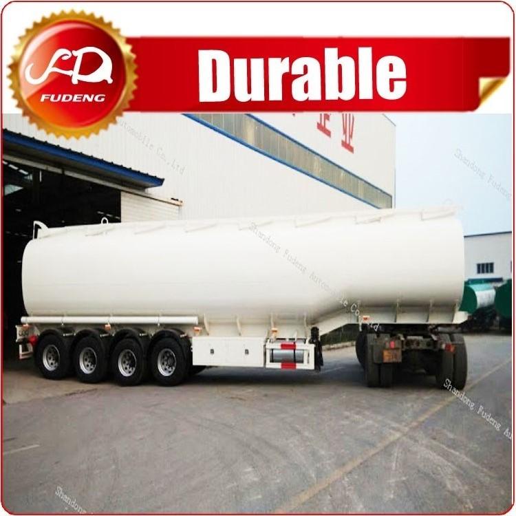 4 axle Diesel Tanker Trailer Liquid Transportation / Chemical Tanker Truck 60000 Liters