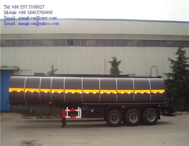 cimc 40000 liters 3 axles asphalt tank semi trailer