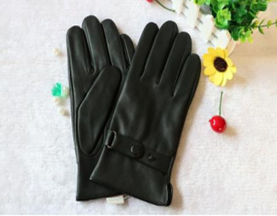 High quality Mens leather gloves with warm wool lining