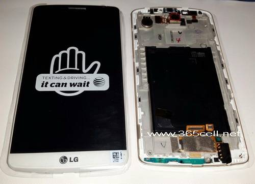 LG G3 LCD and digitizer assembly with frame