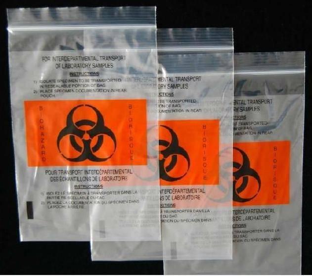 LDPE kangaroo bag / Specimen Bag / Ziplock Bag