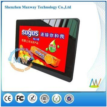 Front tempered glass slim 10 inch lcd digital photo frame