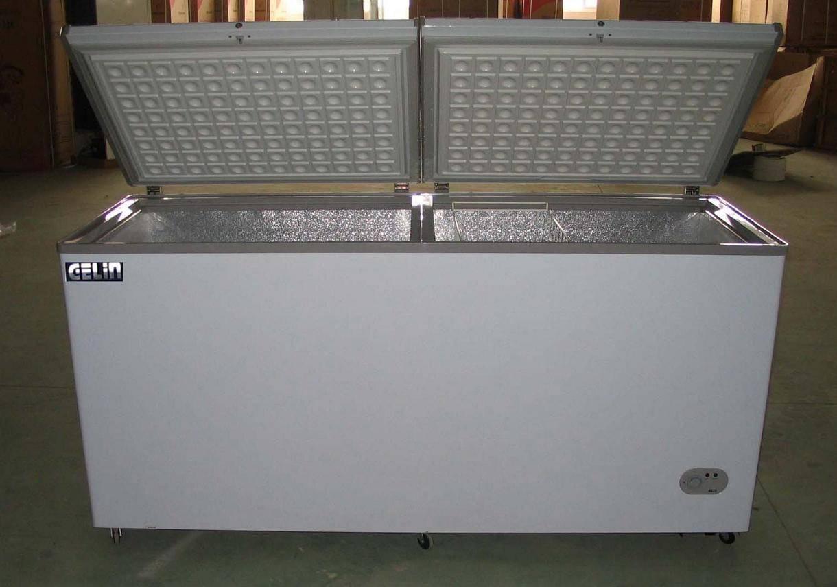 468L double top open door freezer
