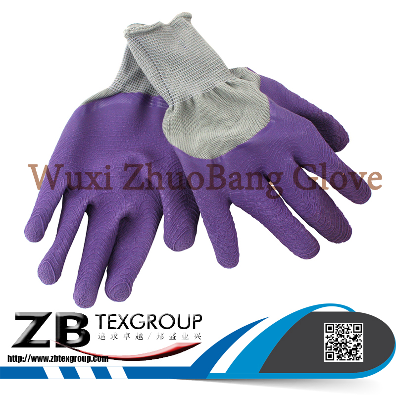 13G Thin Latex Coated Polyester Palm Insulated Work Gloves Gardening Gloves