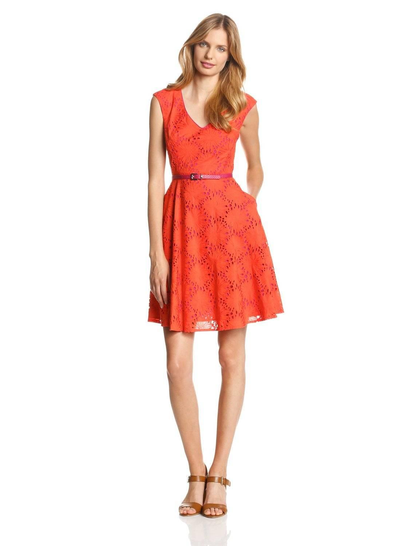Donna Morgan Women's Off-Shoulder Dress with Full Skirt