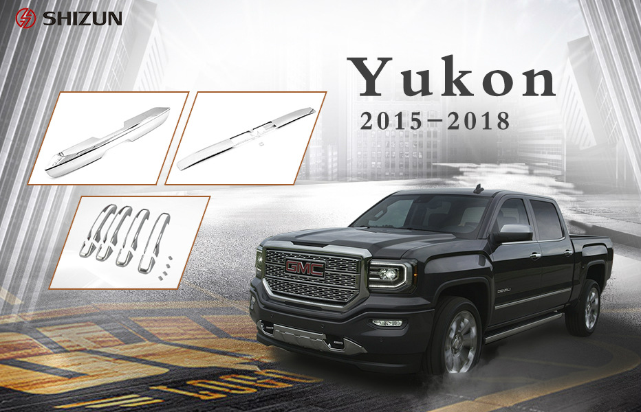 2018 YUKON TAILGATE TRUNK LID TRIM PLASTIC CHROME