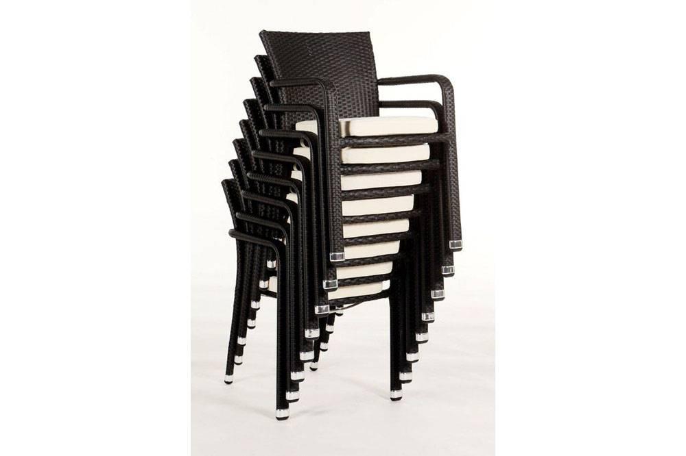 Poly rattan chair, restaurant chair