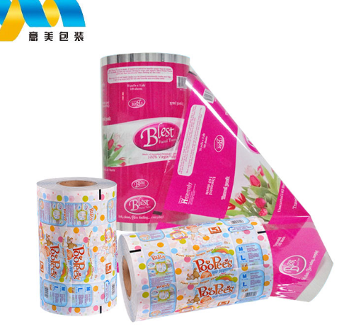 Customised automatic roll laminating plastic packing wrap film