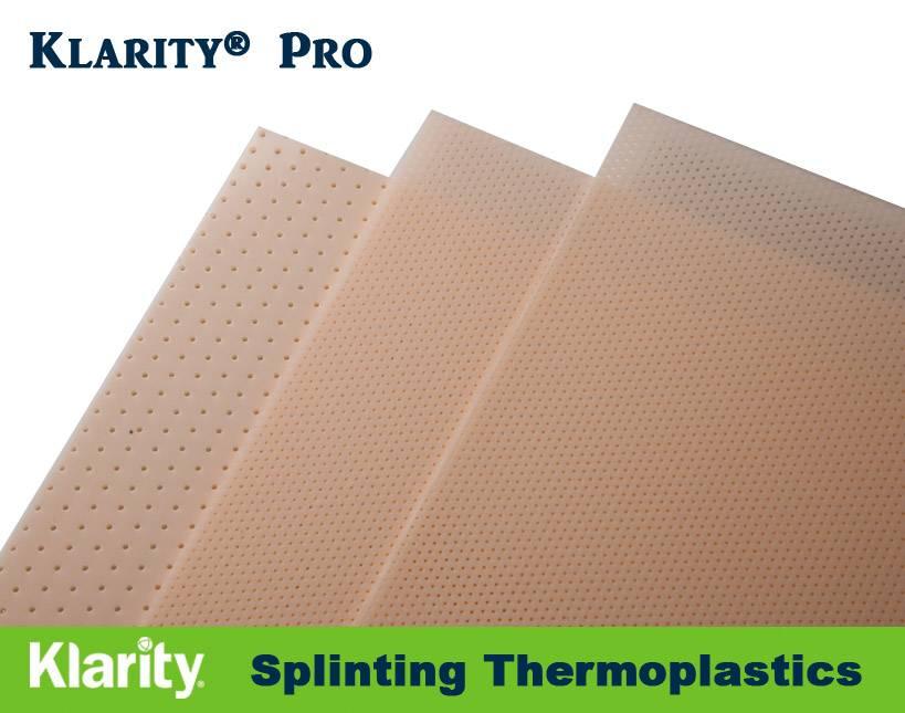 Klarity PRO - Splinting Thermoplastic Material Thermoplastic Sheets