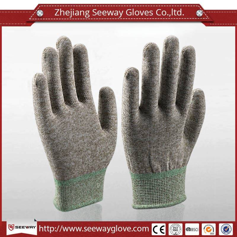 SeeWay Industrial ESD Copper Fiber Gloves Seamless Knitted Without Coating