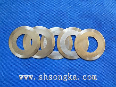 Honeycomb paper strip machine blade, circular blade CAD drawing paper round cutting blade