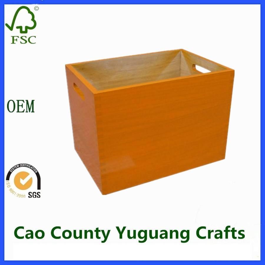 Wooden Orange Storage Crates Coloured Crates