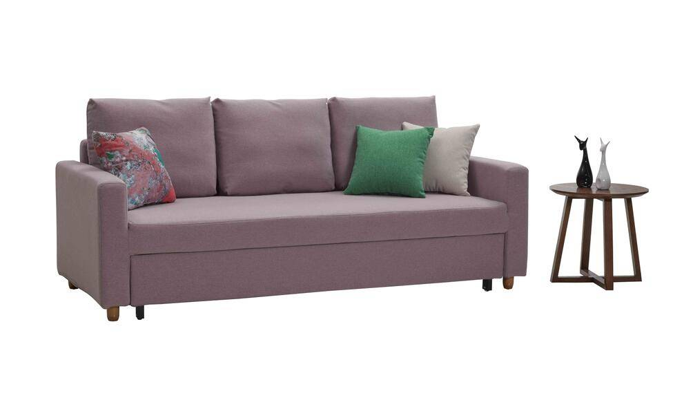 living room fabric sofa bed with storage
