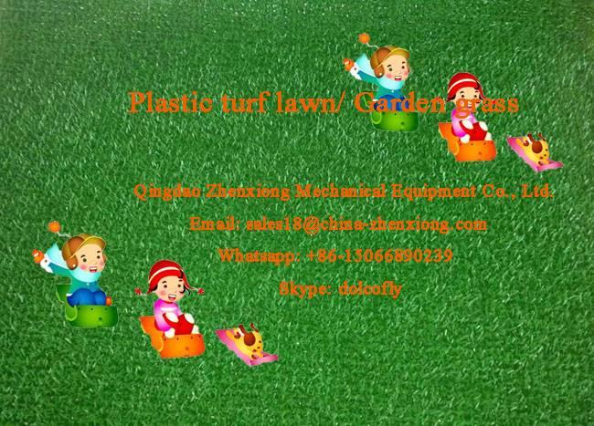 Artificial grass carpet extrusion line