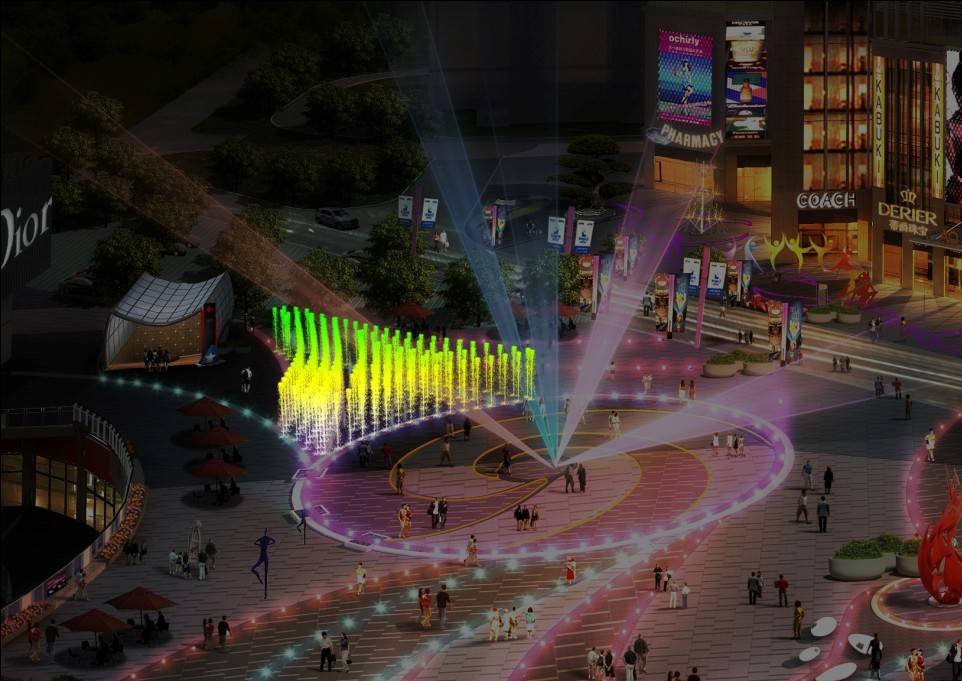 Large Commercial Dancing & Musical Fountain for Square