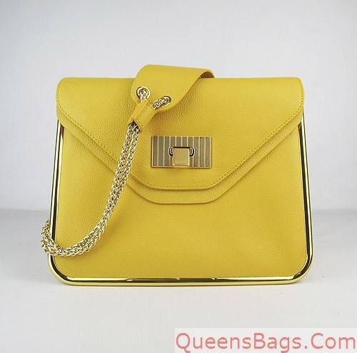Chloe Python Crocodile Snakeskin Pattern Tote Bag 50898 Light Yellow