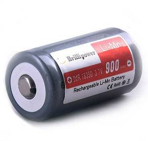 Brillipower IMR18350 batteries 900mAh li-Mn recharge Rechargeable Batteries