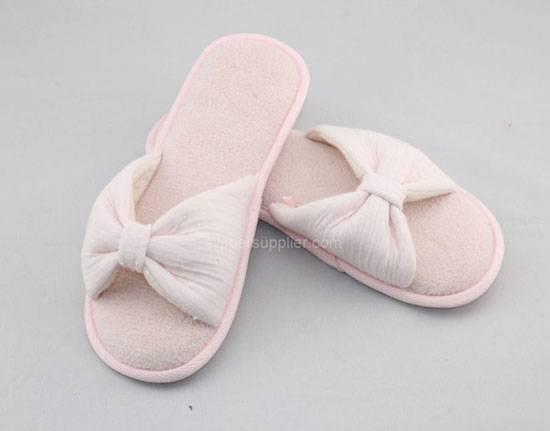 ladies waffle open toe mule slippers