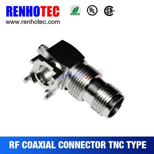 Right Angle TNC Jack Connector For PCB Mount