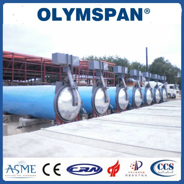 Food Rubber AAC Autoclave Pressure Vessel For Chemical / Textile / Wood
