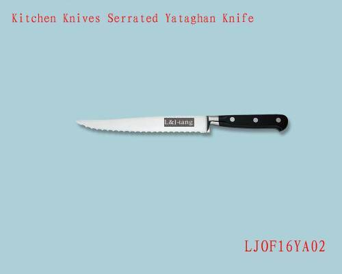 Kitchen Knives Serrated Yataghan Knife