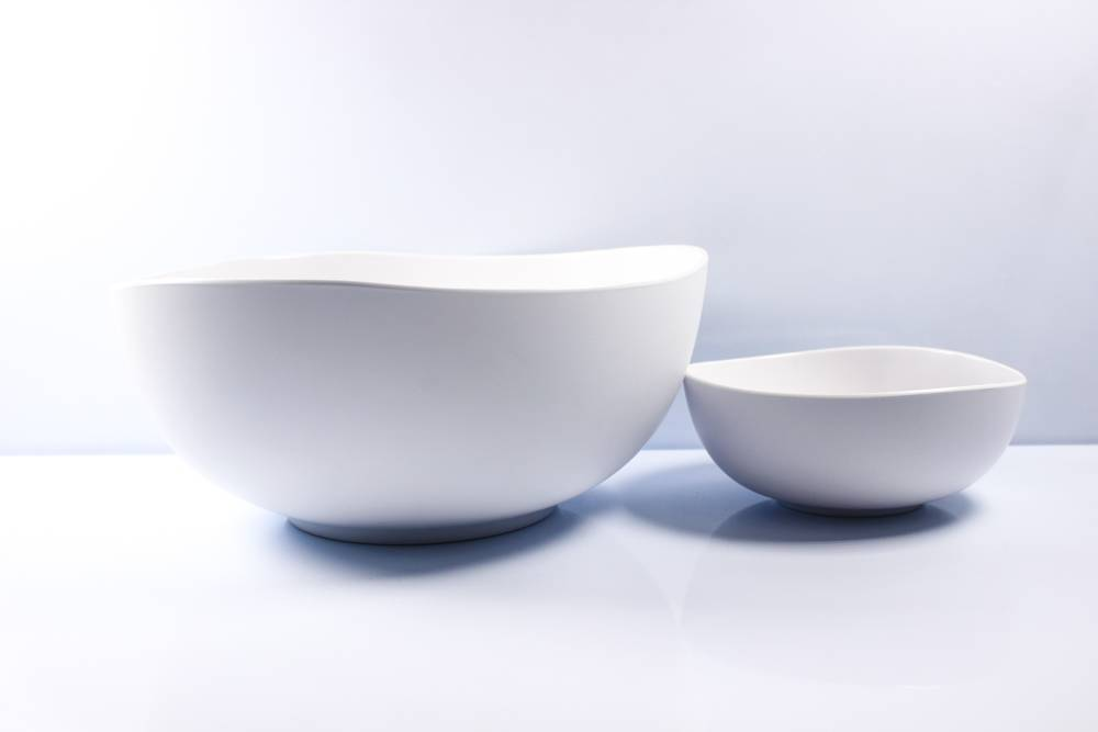 6.2'' and 10.6 irregular shaped bowl