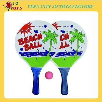 Hot Sell Wooden Beach Racket Set Promotional Toy