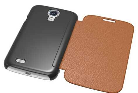 Folio leather case cover for Samsung Galaxy S4