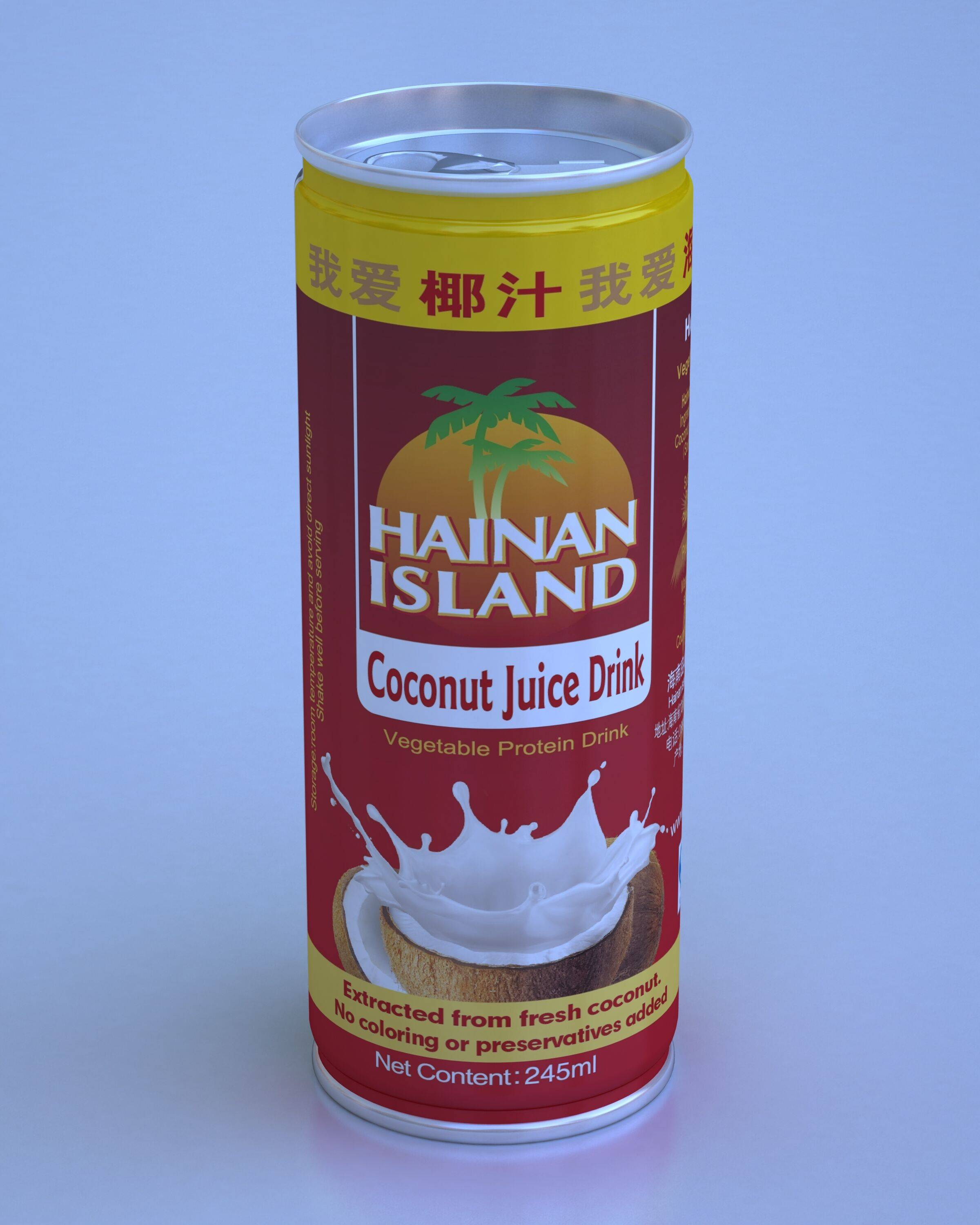 Coconut Juice Drink (245ml), Natual taste, no colorings, no preservatives