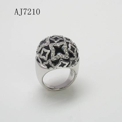 black/ stars ring