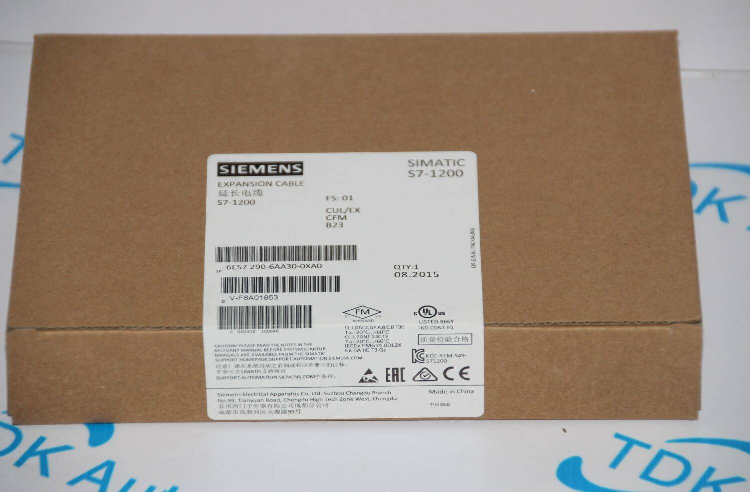 SIEMENS EXPANSION CABLE S7-1200 CABLE 6ES7290-6AA30-0XA0