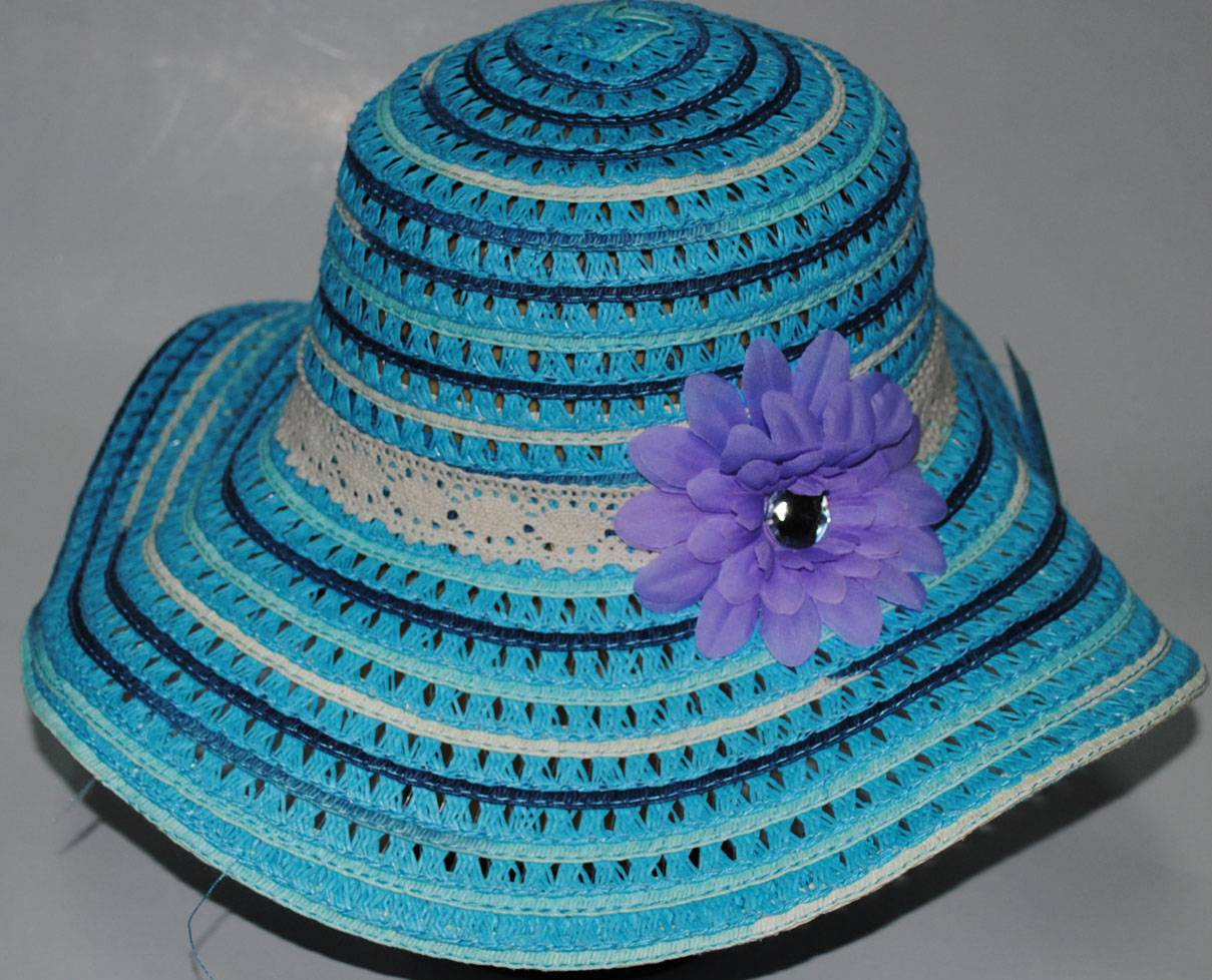 Paper braid straw hats with big brim, Ladies fashion hats.