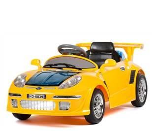 kids emulational ride on porsche toys car yellow BJ6839