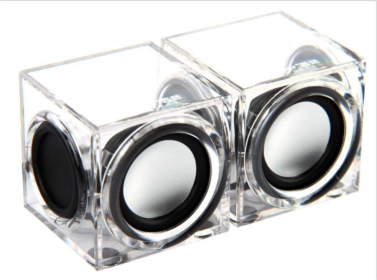 2.0 USB crystal speaker