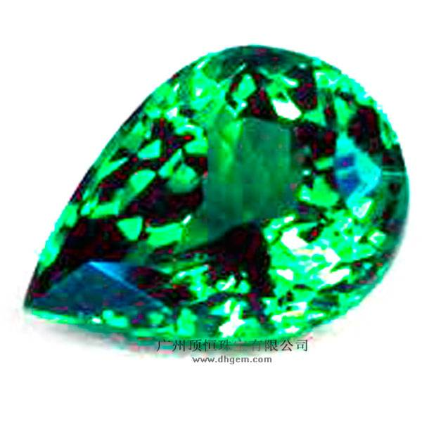 2014 China Manufacturer Pear Shape Natural Green Garnet Gemstone Wholesale Prices