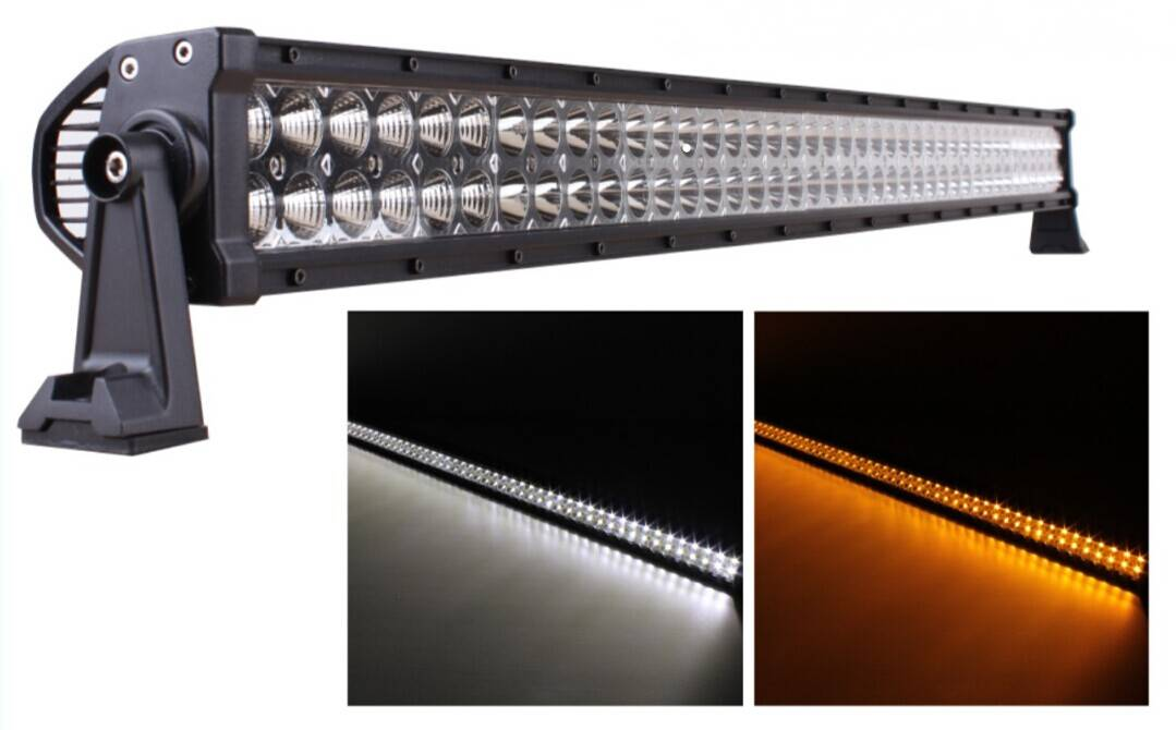 52 LED Off-Road Light Bar Amber Color White Color
