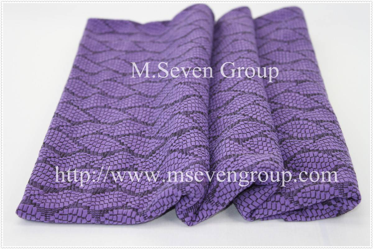 Elegant Purple Knitting Jacquard Fabric