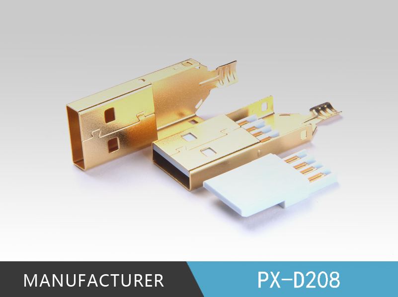 3U gold plated USB 2.0 tape A connector