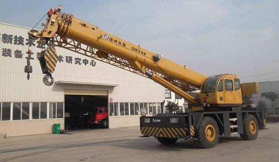 50ton rough terrain crane