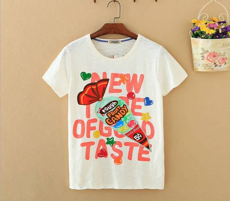 2015 New Lady Sweet Short SleeveT-Shirt
