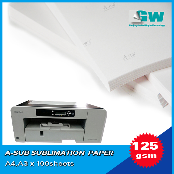 A3/A4/roll Wholesales sublimation paper for mugs, ceramic sublimation heat transfer paper