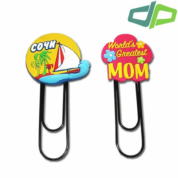pvc paper clip bookmark, promotional paper clips