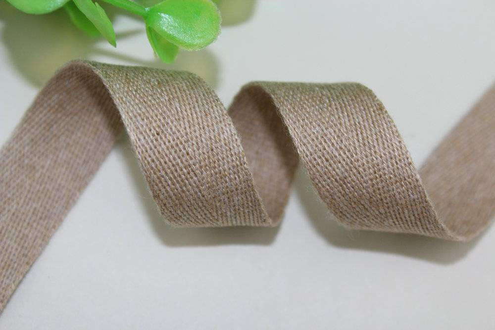 Oeko Standard 100 Chunky cotton Herringbone ribbons(Low MOQ and extent stock at hand)